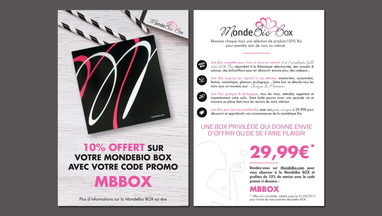 Flyer Promo MondeBio BOX